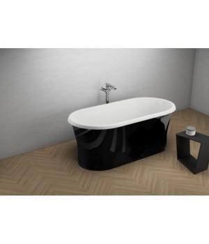 Акрилова ванна AMONA NEW чорна глянцева, 150 x 75 см Polimat
