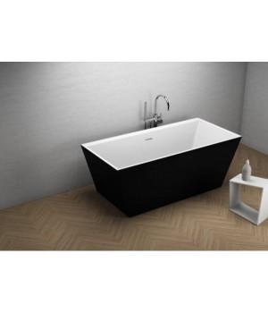 Акрилова ванна LEA чорна матова, 170 x 80 см Polimat