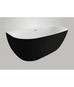 Акрилова ванна RISA чорна матова, 170 x 80 см Polimat