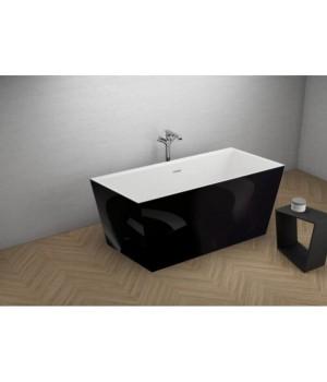 Акрилова ванна LEA чорна глянцева, 170 x 80 см Polimat