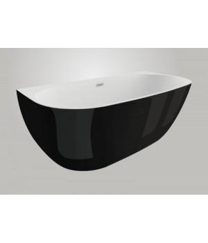 Акрилова ванна RISA чорна глянцева, 170 x 80 см Polimat