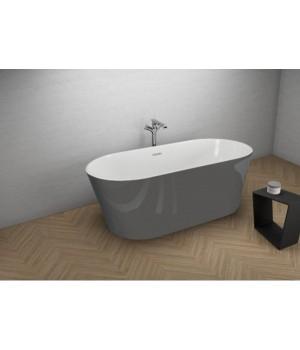 Акрилова ванна UZO графітова, 160 x 80 см Polimat