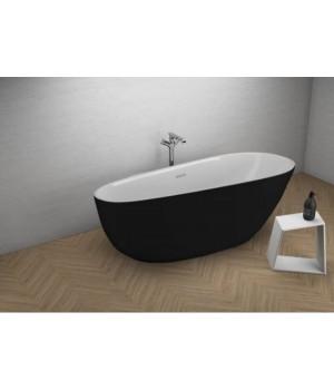 Акрилова ванна SHILA чорна матова, 170 x 85 см Polimat
