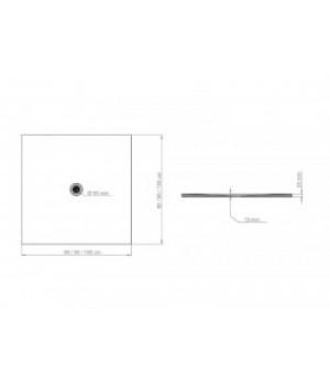 Душовий піддон FRESCO білий матовий, 100 x 100 см Polimat