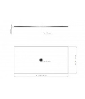 Душовий піддон FRESCO білий глянцевий, 120 x 80 см Polimat