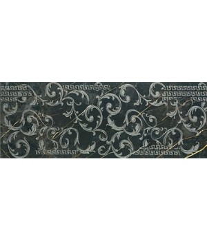 Плитка Porcelanite Dos 1320 Negro Decor Roma 48 x 128 /Р202