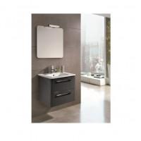 Сантехника Primera C0072911 KLEA Комплект мебели: тумба + раковина + зеркало 60см, серый глянцевый