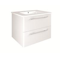 Сантехника Primera C0072910 KLEA Комплект мебели: тумба + раковина + зеркало 60см, белый глянцевый