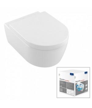 Унитаз подвесной Villeroy&Boch Avento Direct Flush с крышкой Soft Close в комплекте 5656HR01