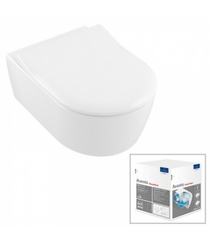 Унитаз подвесной Villeroy&Boch Avento Direct Flush с крышкой SlimSeat в комплекте 5656RS01