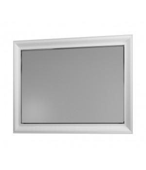 Зеркало Aqua Rodos Беатриче 100 см белое, патина хром
