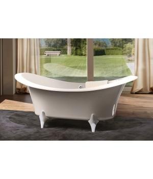 Акриловая ванна отдельностоящая Treesse Grande Dame,ножки хром