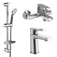 Набор для ванны Volle Benita 1517112161 смеситель для раковины 15171100 + смеситель для ванны 15172100 + душевой гарнитур
