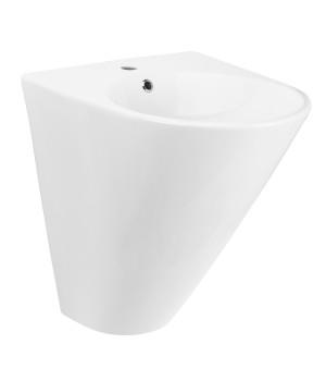 Керамический умывальник-моноблок с круглой чашей Volle Oliva 13-45-151