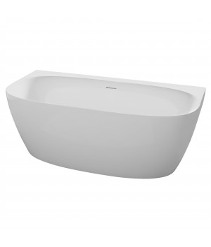 Акриловая отдельностоящая пристенная ванна 12-22-809M матовая